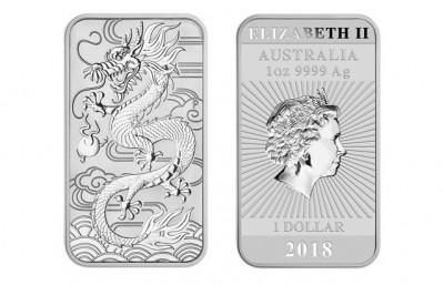 Rectangular Dragon 2018 1 Oz - Stříbrná mince