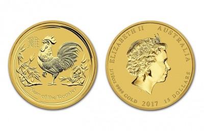 Rooster 2017 1/10 Oz - Zlatá mince